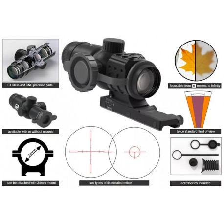 Immersive Optics 5x30 Prismatic Scope (Mounts included)